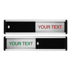 Viro Sliding Door Sign with Your Choice of Text | Viro Display