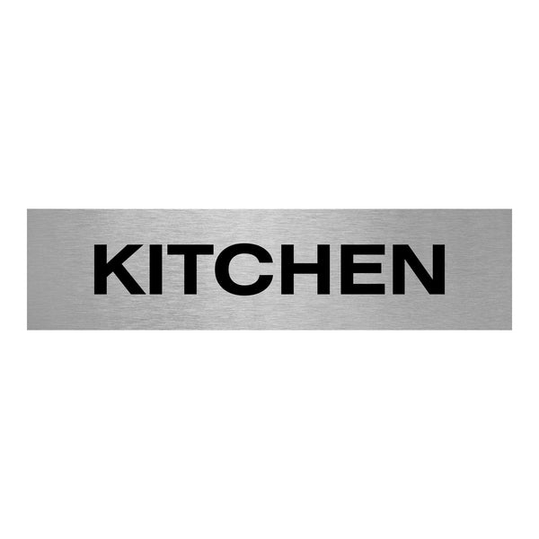 Slimline Aluminium Kitchen Sign