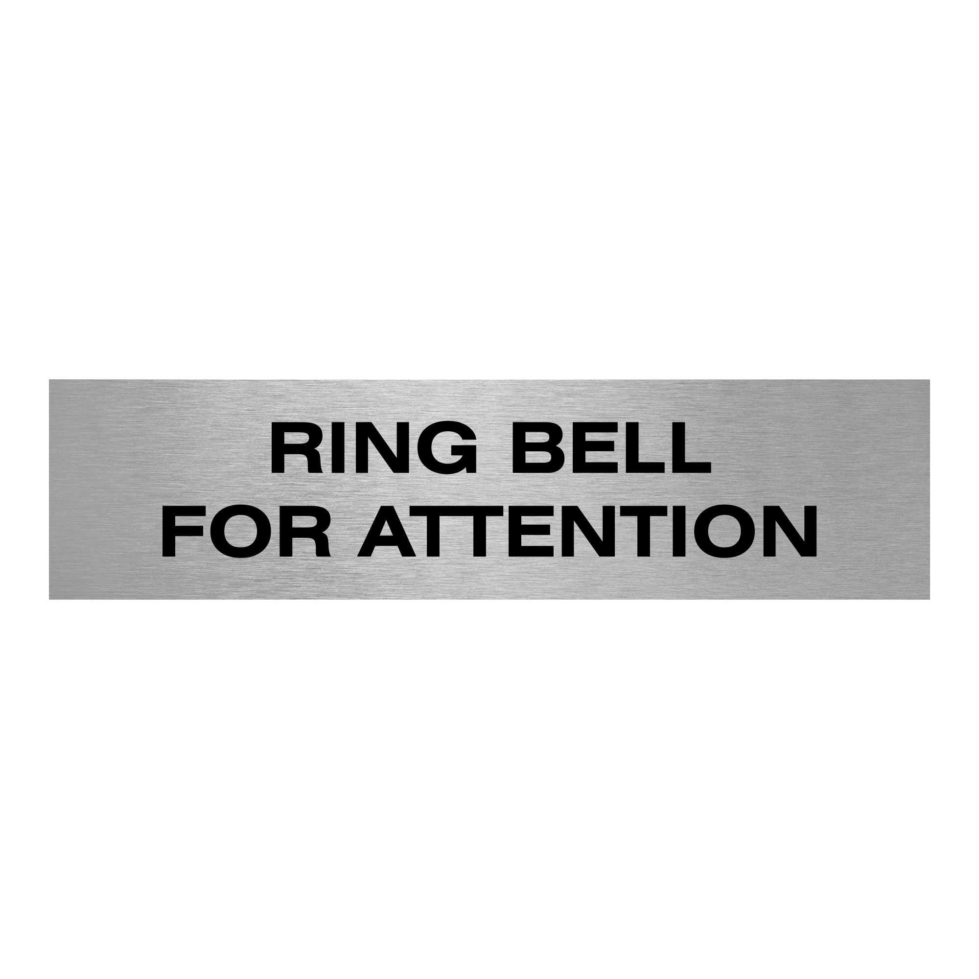 Slimline Aluminium Ring Bell for Attention Sign | Viro Display