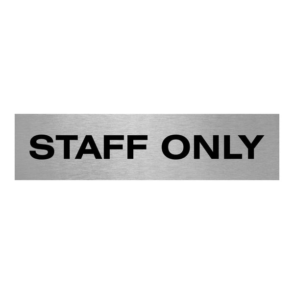 Slimline Aluminium Staff Only Door Sign | Viro Display
