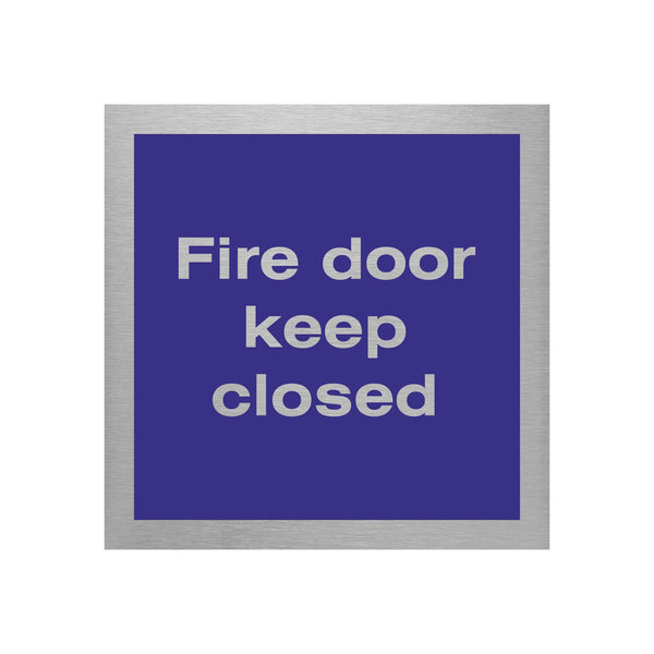 Slimline Aluminium Fire Door Sign