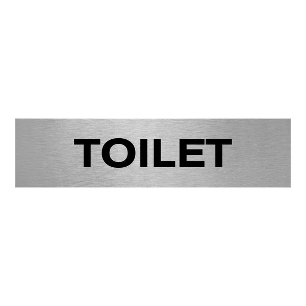Slimline Aluminium Toilet Sign
