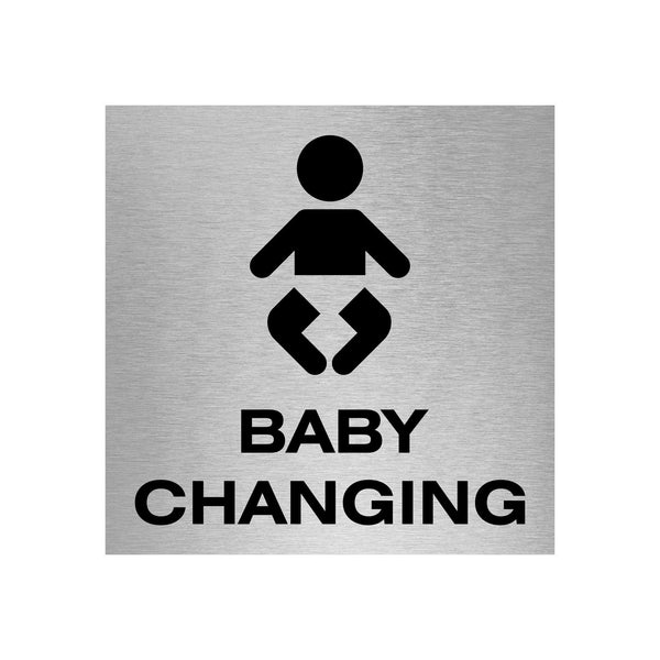 Slimline Aluminium Baby Changing Sign | Viro Display