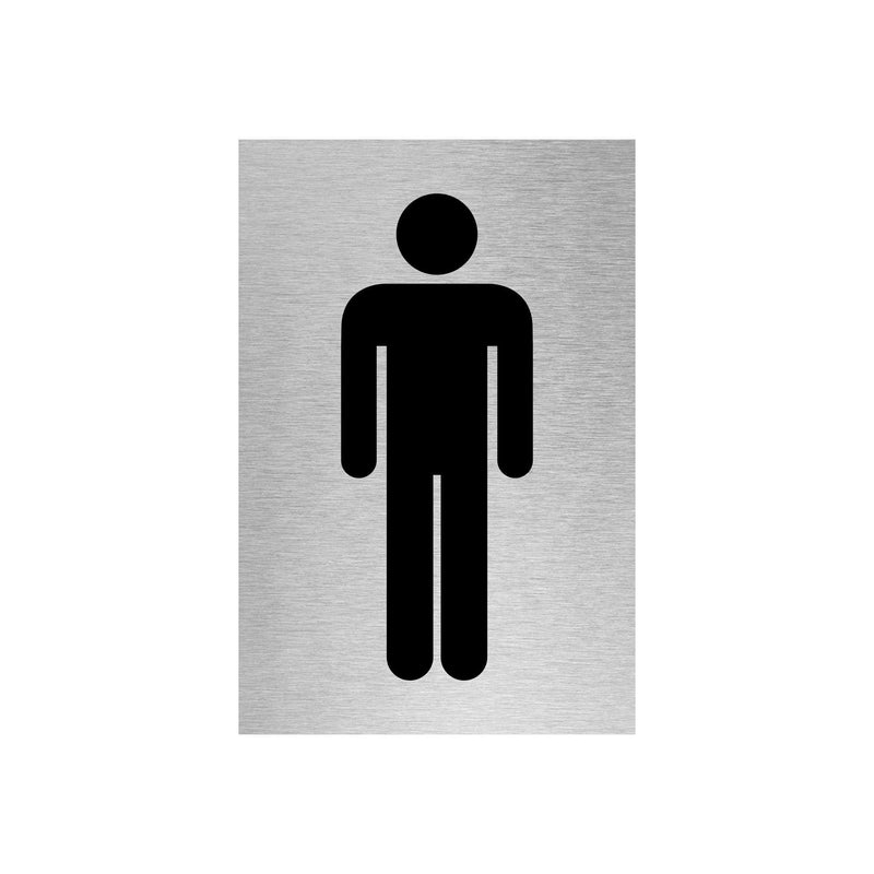 Slimline Aluminium Male Toilet Sign