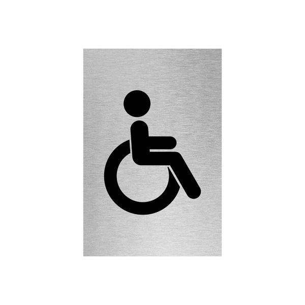 Slimline Aluminium Accessible Toilet Sign