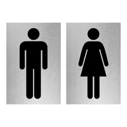 Slimline Aluminium Male & Female Toilet Sign Combo | Viro Display