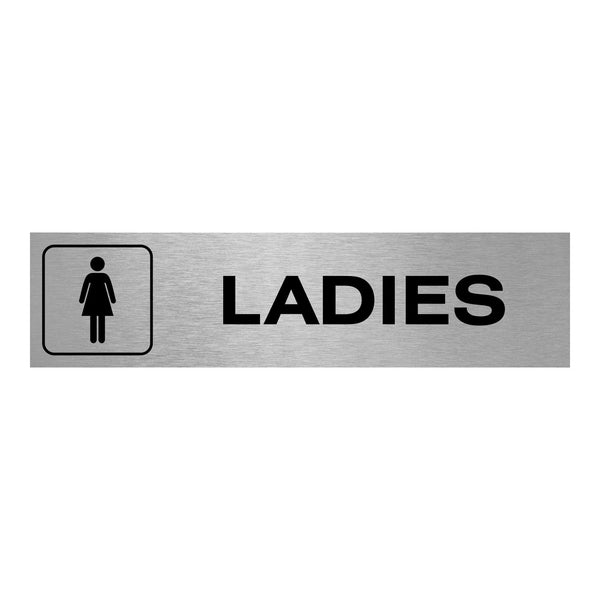 Slimline Aluminium Oblong Ladies Toilet Sign