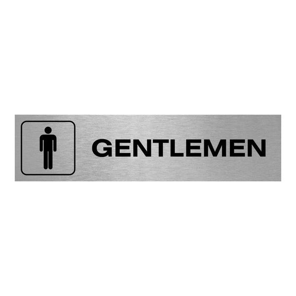 Slimline Aluminium Oblong Gentlemen Toilet Sign
