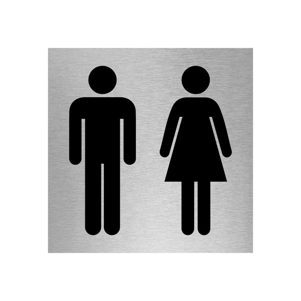 Slimline Aluminium Male & Female Toilet Sign