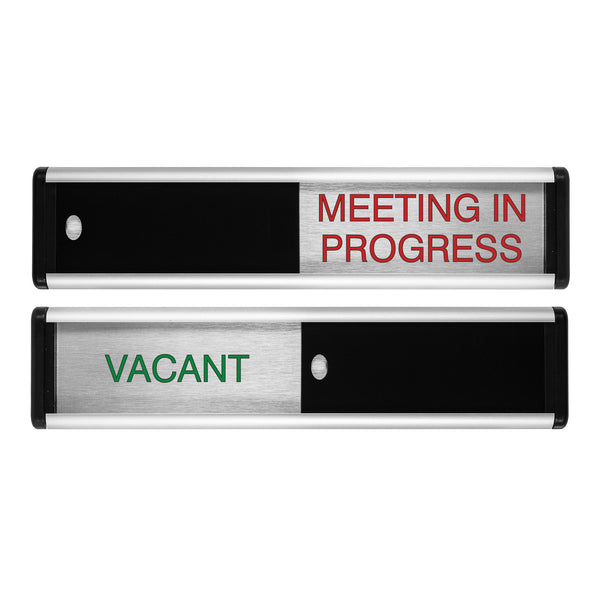 Viro Vacant/Meeting In Progress Sliding Door Sign
