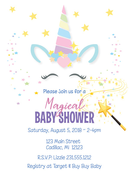 A Magical Unicorn Baby Shower - Unicorn Party Ideas