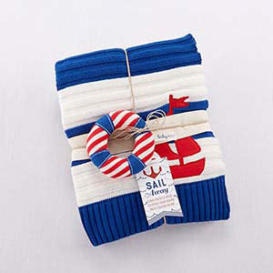 Nautical Baby Blanket Set