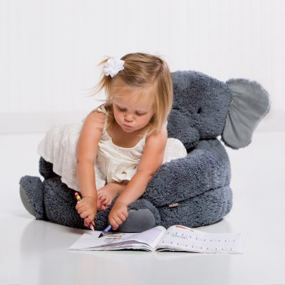 Plush Elephant Children's Chair (#TLP101001)