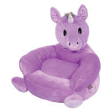 Children's Purple Unicorn Character Plush Chair (#TLP103404)