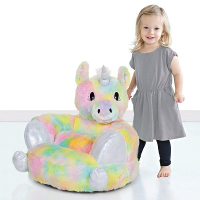 Children's Rainbow Unicorn Plush Chair (#TLP103403)