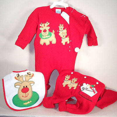 Christmas Reindeer Hooded Baby Towel (#BGC95)