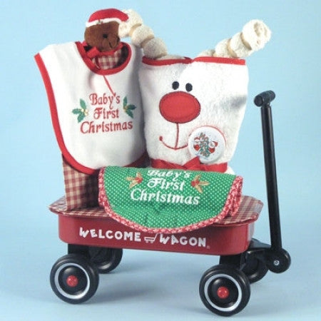 Christmas Baby Welcome Wagon Gift Set (#BGC94) - StorkBabyGiftBaskets