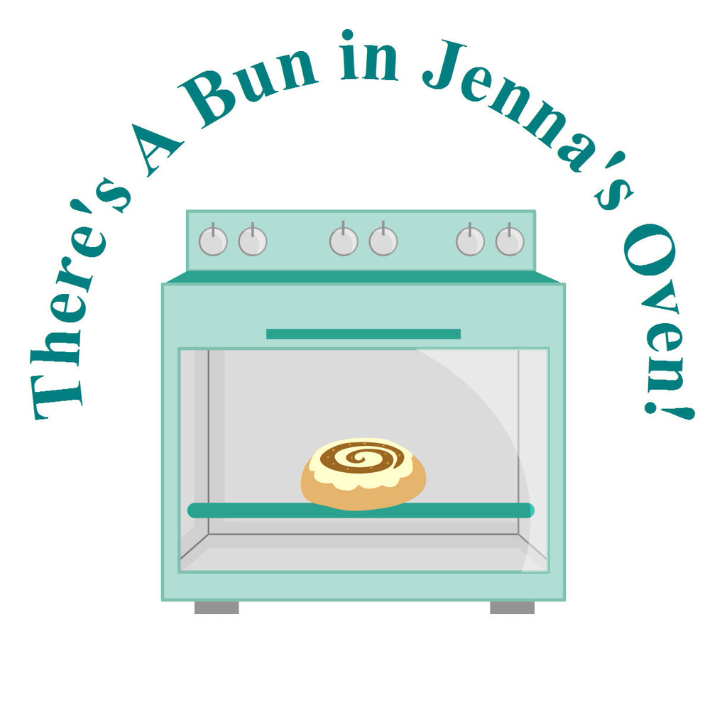 Bun In The Oven - Baby Boy Shower Sticker Favor
