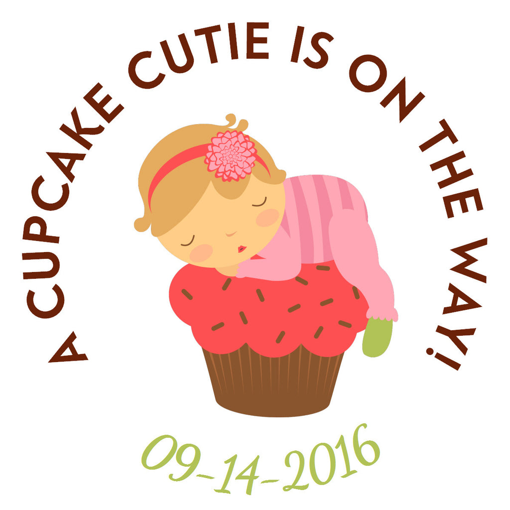 Cupcake Cutie Circle Sticker - Gift Tags & Stickers (#GTS16) - StorkBabyGiftBaskets