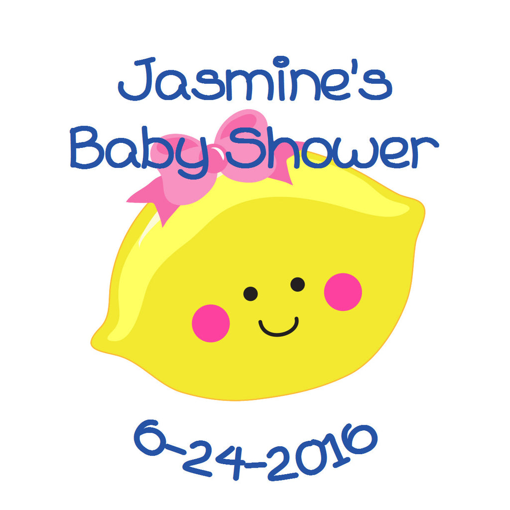 Lemon-Cutie - Personalized Baby Shower Sticker Labels