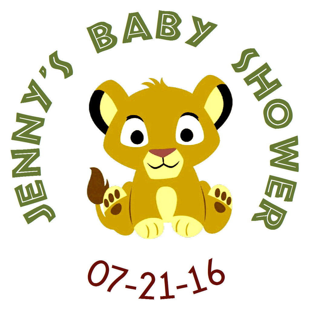 Baby Lion King - Personalized Party Sticker Labels