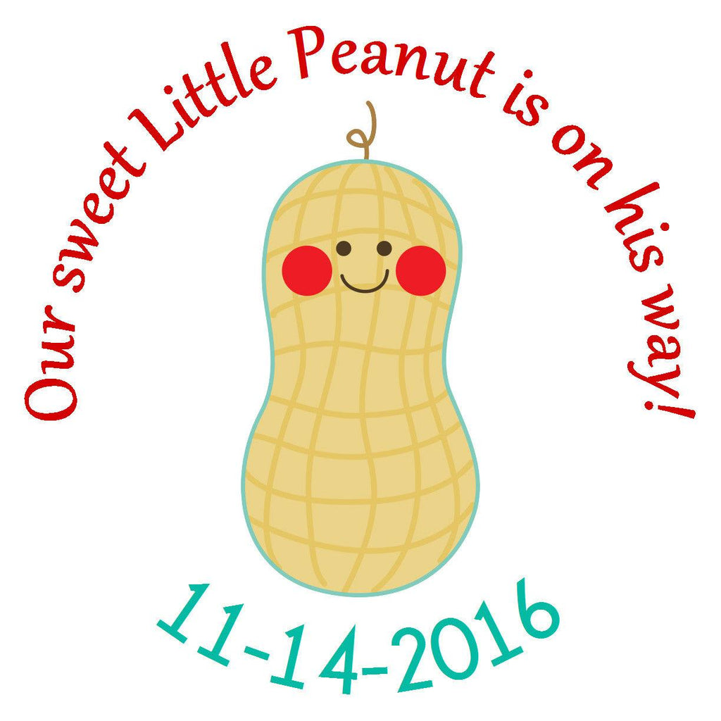 Little Peanut Boy Circle Sticker - Gift Tags & Stickers (#GTS26) - StorkBabyGiftBaskets