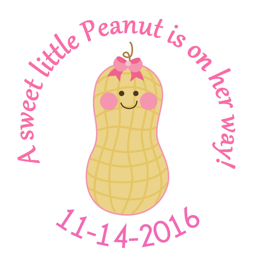 Little Peanut Girl Circle Sticker - Gift Tags & Stickers (#GTS27) - StorkBabyGiftBaskets