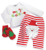My 1st Christmas 3pc Outfit by Mudpie (#SBGB19) - StorkBabyGiftBaskets - 1