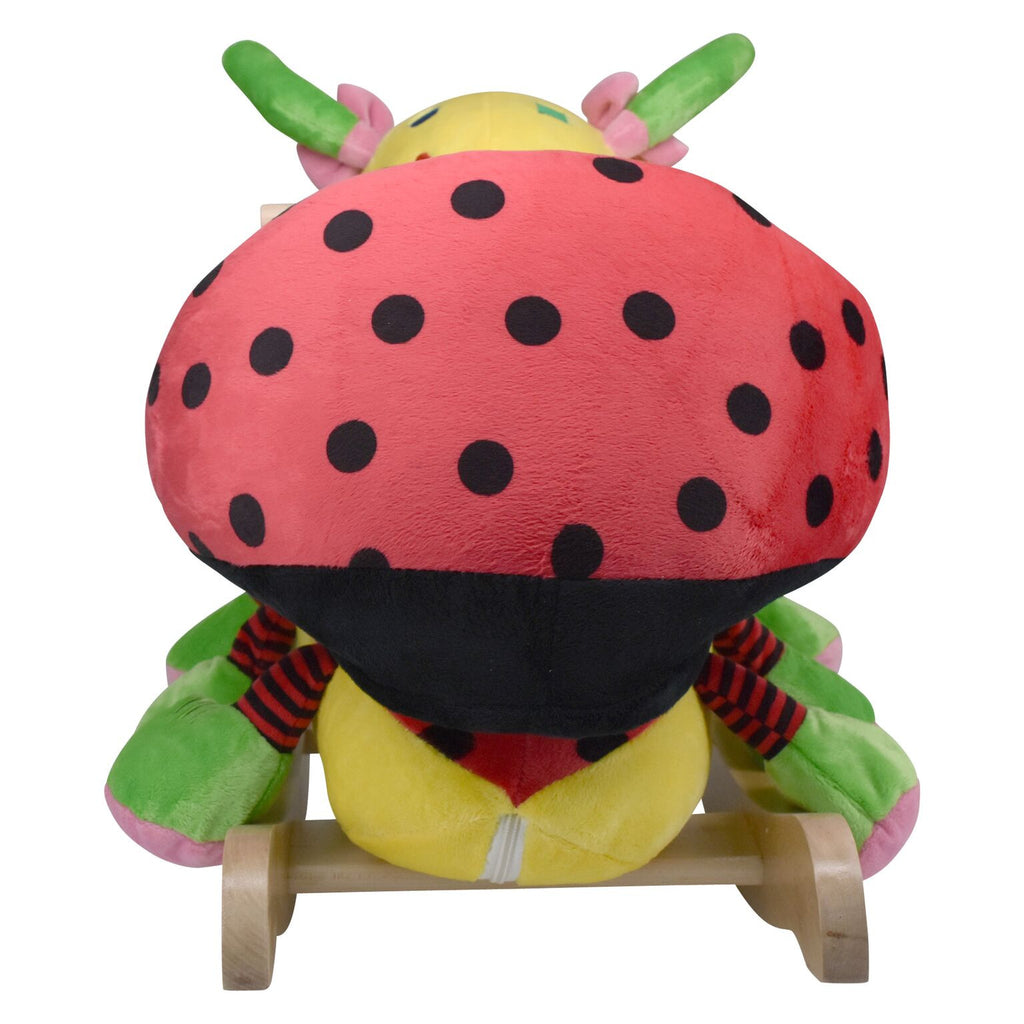 Ladybug Musical Toy Rocker (#RB14) - Stork Baby Gift Baskets - 5