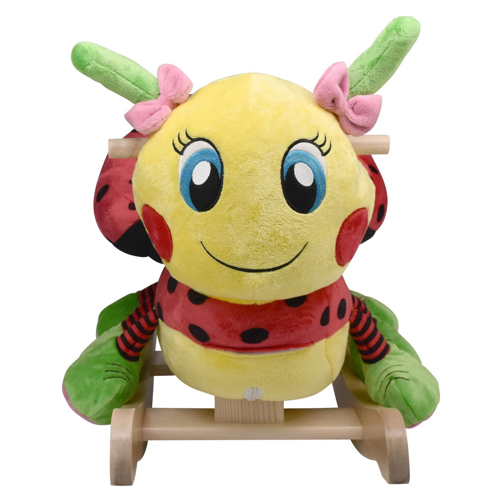 Ladybug Musical Toy Rocker (#RB14) - Stork Baby Gift Baskets - 3