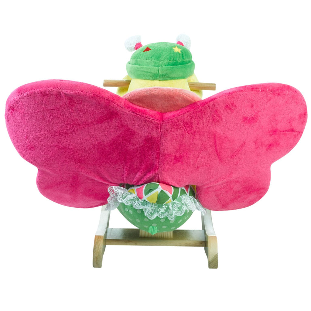 Bonita Butterfly Baby Musical Toy Rocker (#RB5) - StorkBabyGiftBaskets - 2
