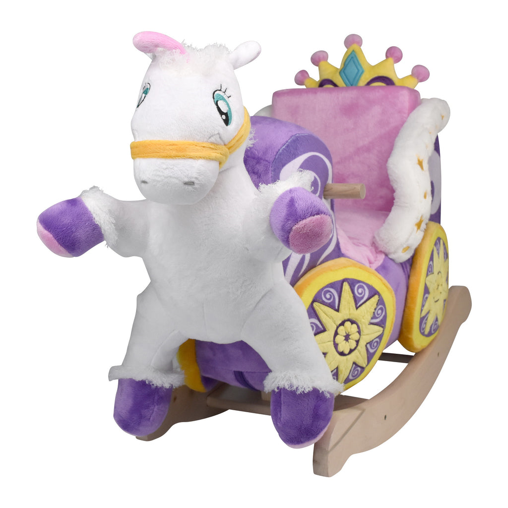 Princess Carriage Baby Girl Rocker (#RB19) - StorkBabyGiftBaskets - 1