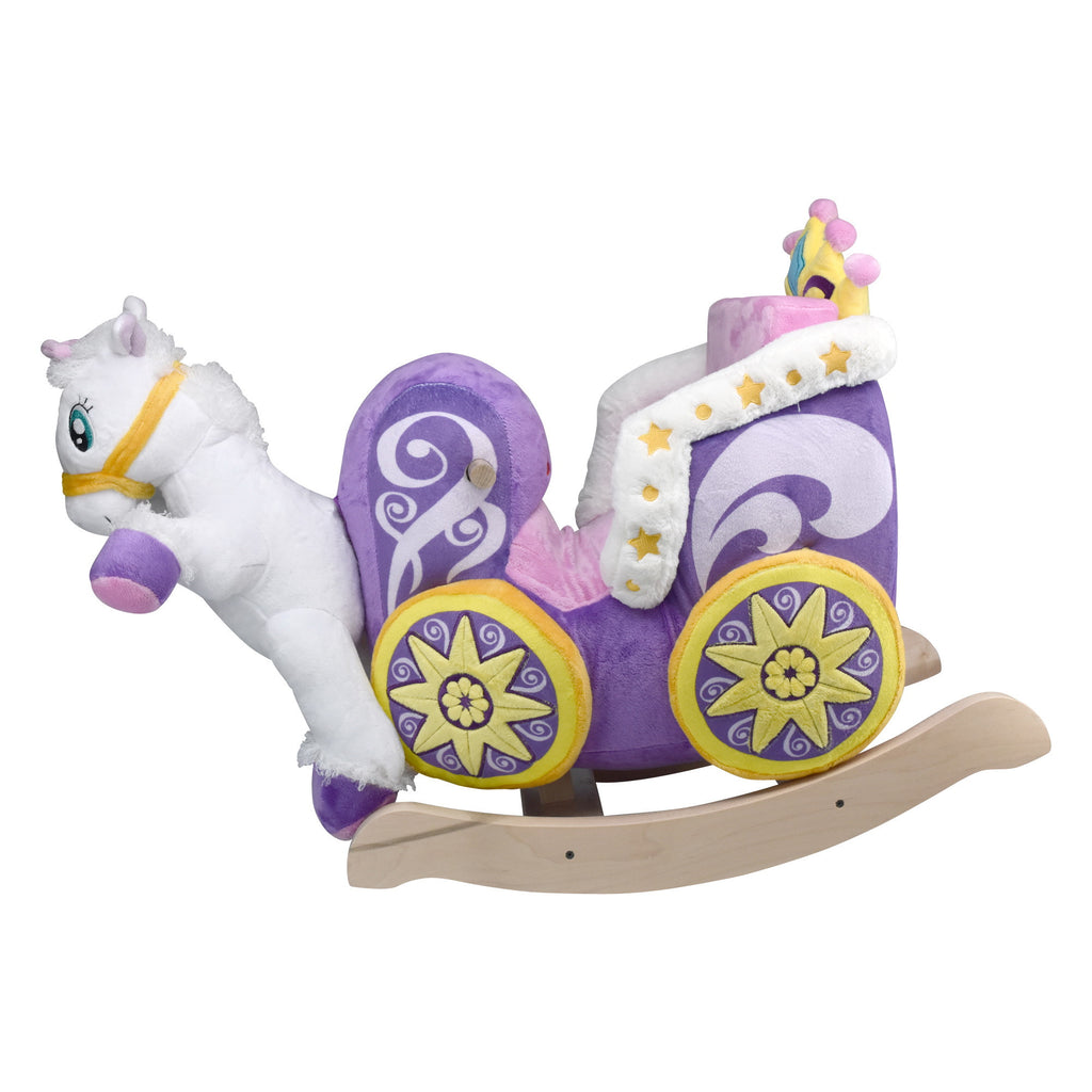 Princess Carriage Baby Girl Rocker (#RB19) - StorkBabyGiftBaskets - 3