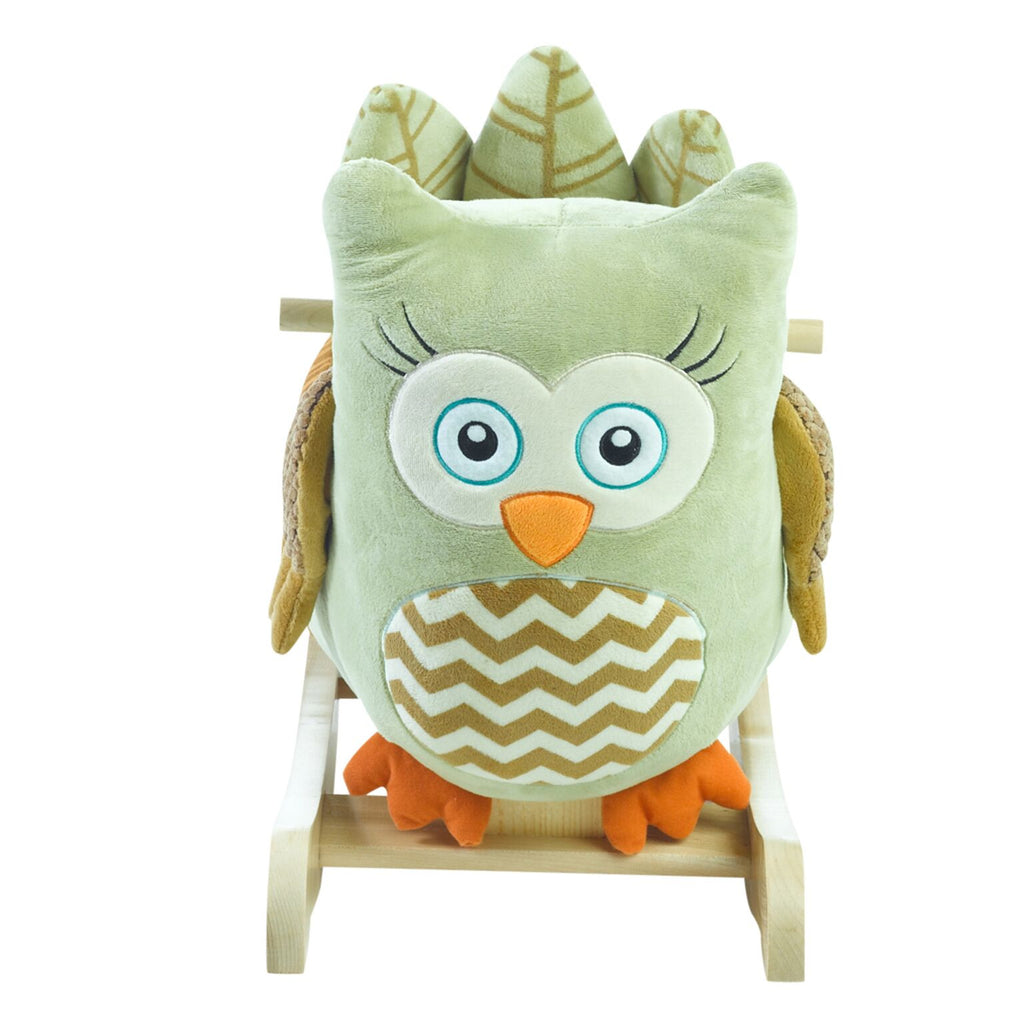 Owliver Green Owl Rocker (#RB24) - StorkBabyGiftBaskets - 3