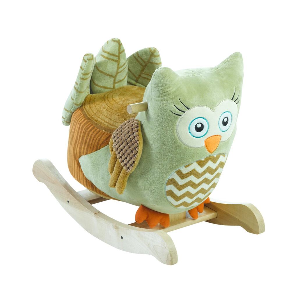 Owliver Green Owl Rocker (#RB24) - StorkBabyGiftBaskets - 1