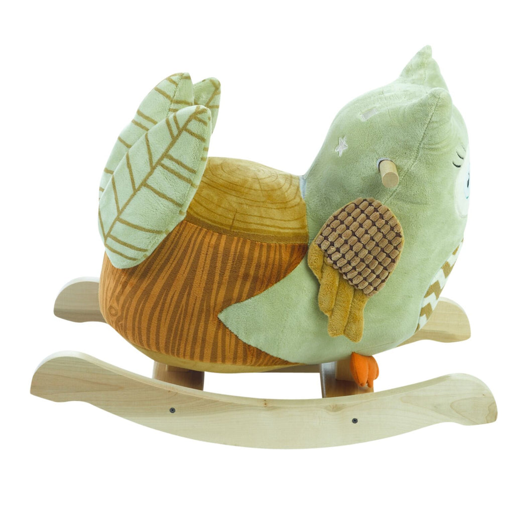 Owliver Green Owl Rocker (#RB24) - StorkBabyGiftBaskets - 4