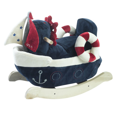 Natural Rocking Horse Unisex Baby Gift Set (#BGC336)