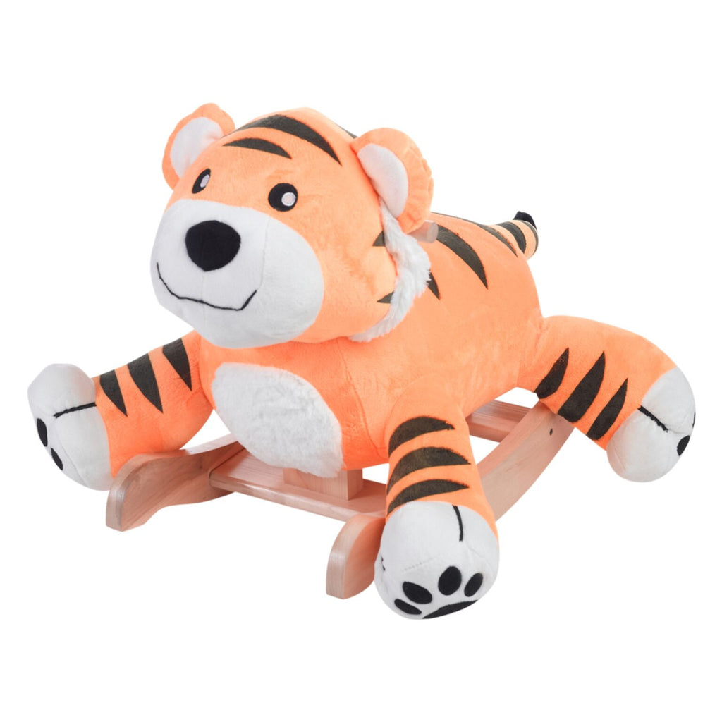 Tiggy Tiger Plush Rocker (#RB46) - StorkBabyGiftBaskets - 1