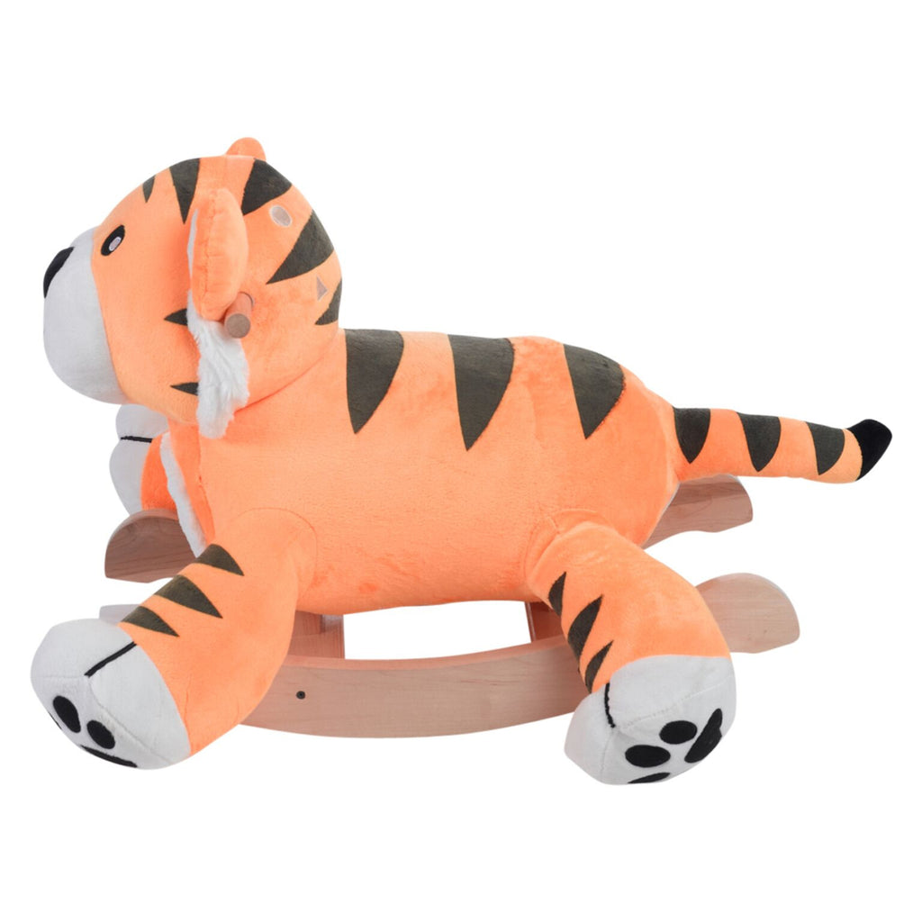 Tiggy Tiger Plush Rocker (#RB46) - StorkBabyGiftBaskets - 4