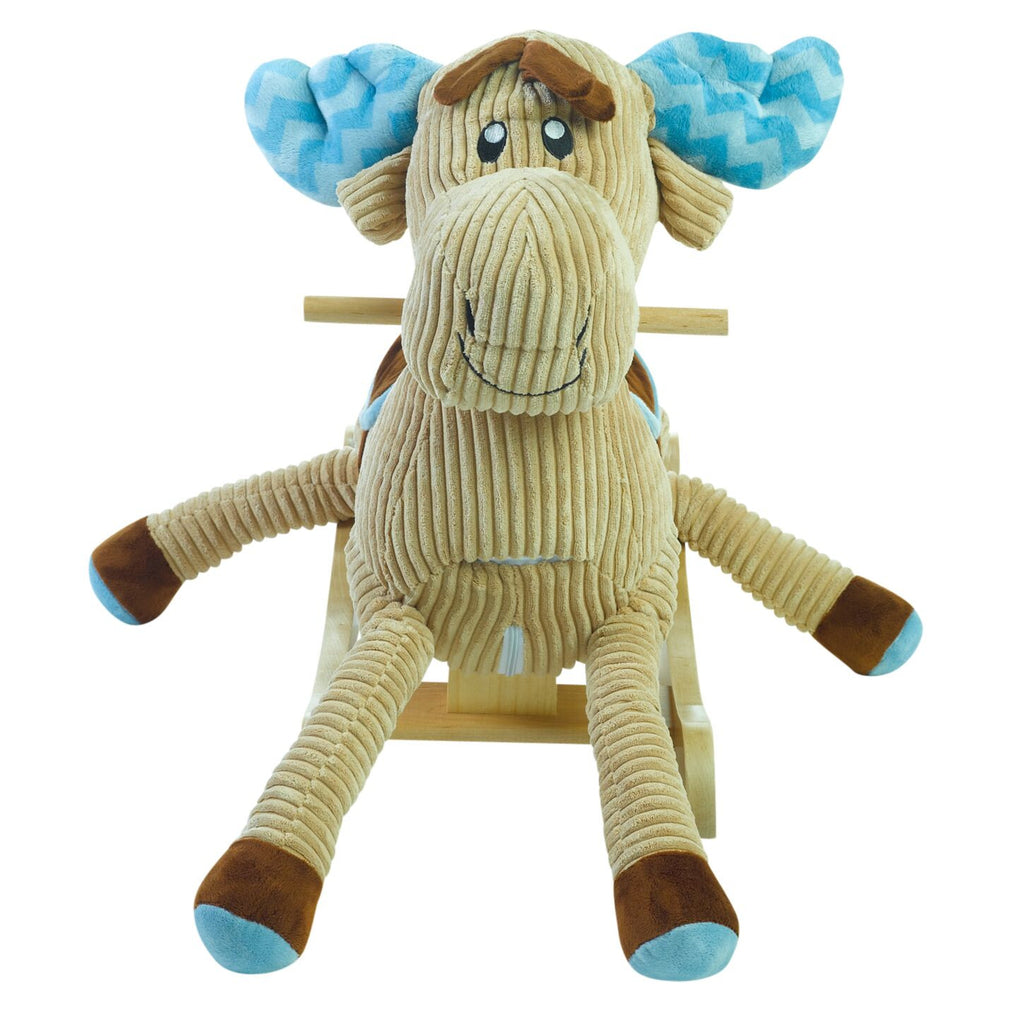 Chocolate Moose Rocker (#RB34) - StorkBabyGiftBaskets - 3