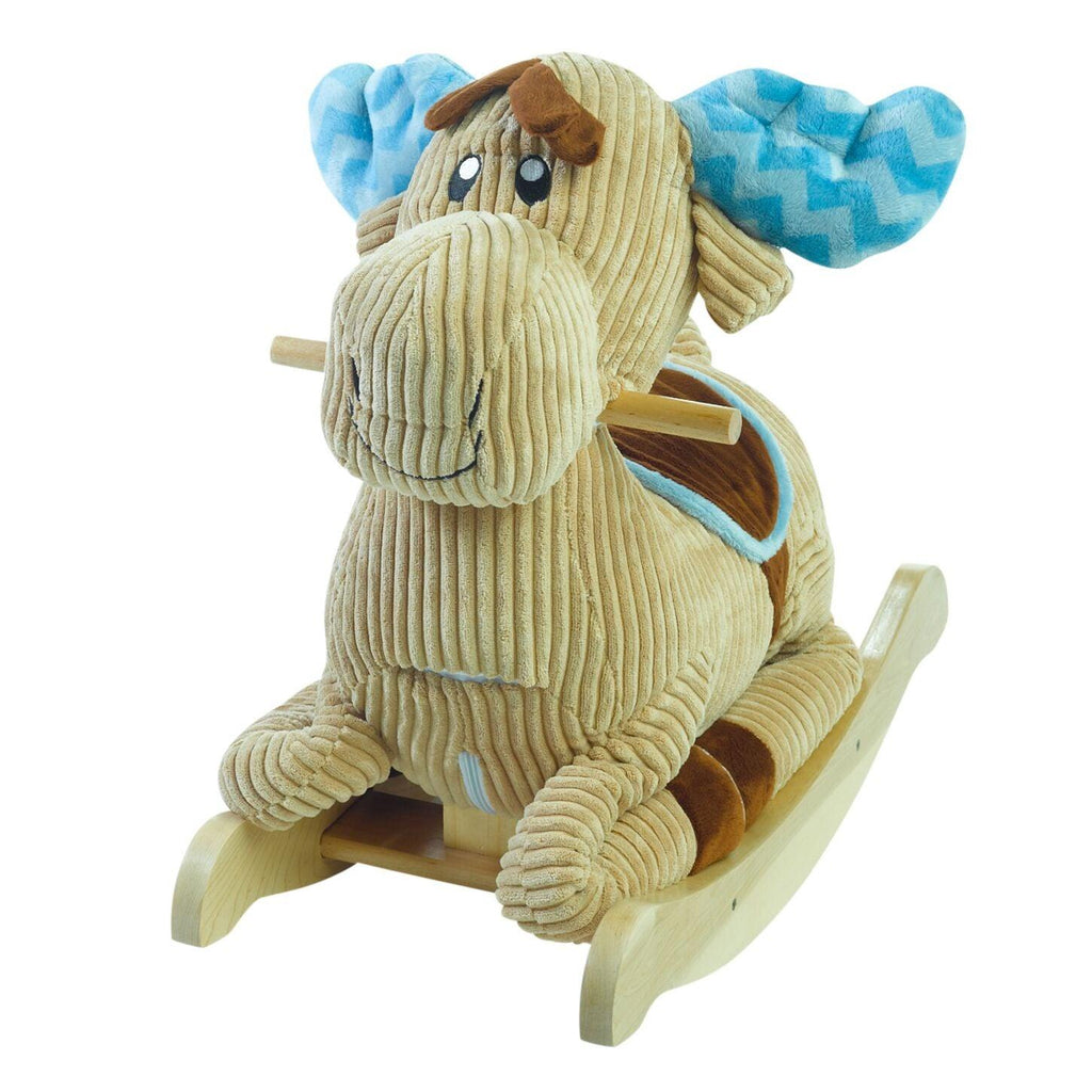 Chocolate Moose Rocker (#RB34) - StorkBabyGiftBaskets - 1