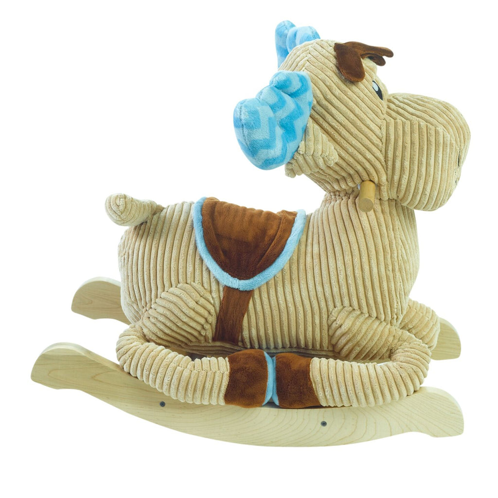 Chocolate Moose Rocker (#RB34) - StorkBabyGiftBaskets - 4