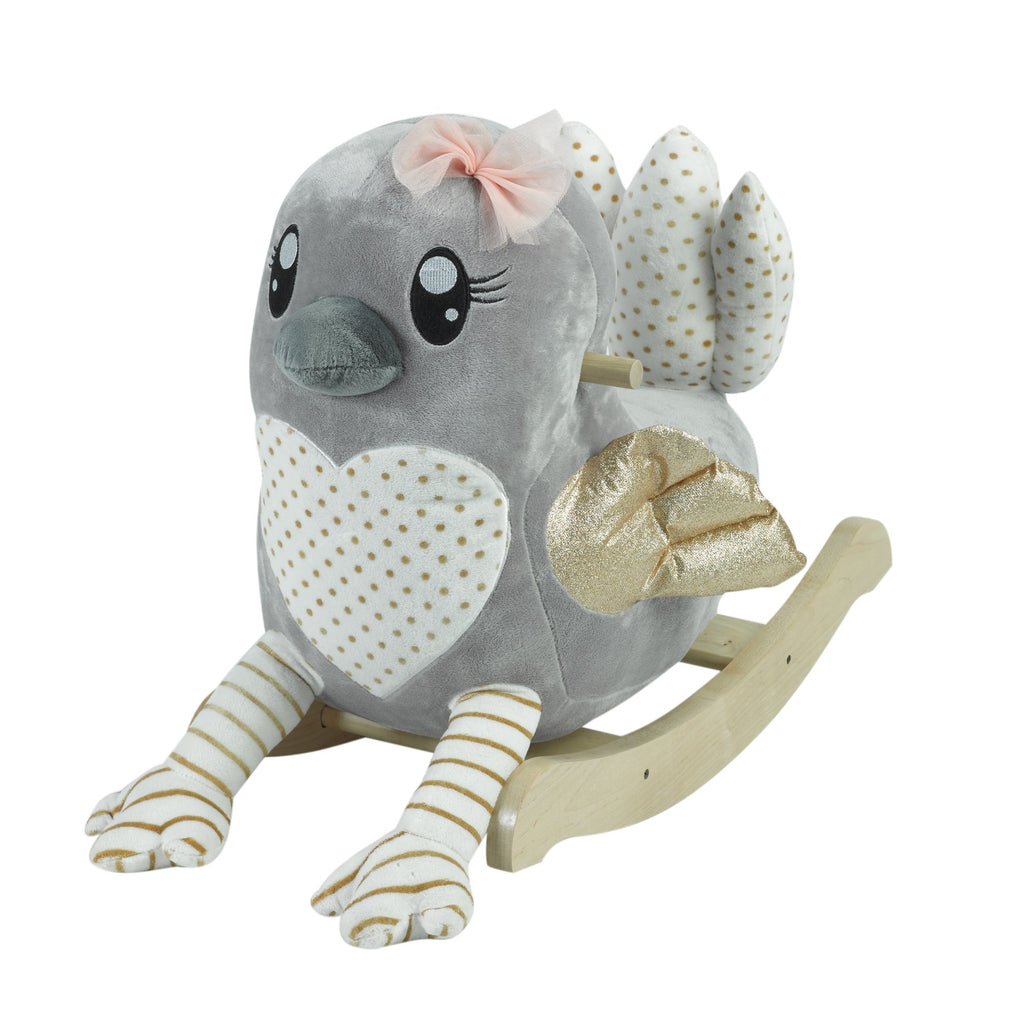 Skye the Grey Bird Children's Rocker