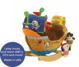 Ahoy Doggie Pirate Ship Play and Rock (#RB39) - StorkBabyGiftBaskets - 2