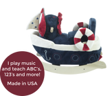 America The Sailboat Play and Rock (#RB38) - StorkBabyGiftBaskets - 2