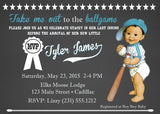 Baseball Chalkboard Boy Baby Shower Invitations (#SBGB127) - StorkBabyGiftBaskets - 1