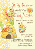 Bumble Bee Baby Girl Shower Invitations (#SBGB87) - Stork Baby Gift Baskets