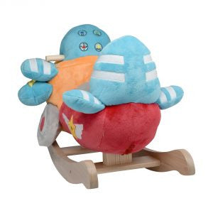 Bi-Plane Airplane Rocker (#RB37) - Stork Baby Gift Baskets - 3