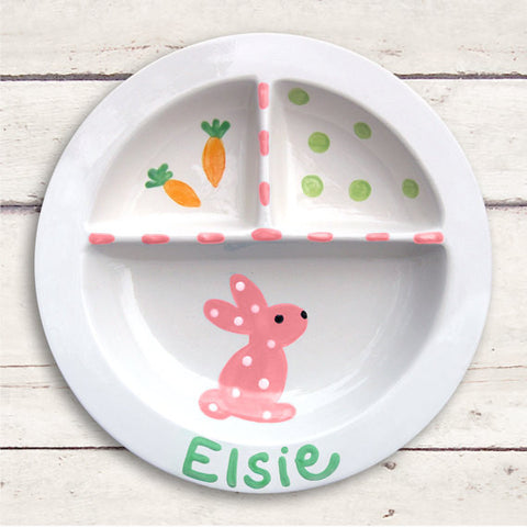 Bunny - Kids Personalized Easter Platter (#LWC-137)