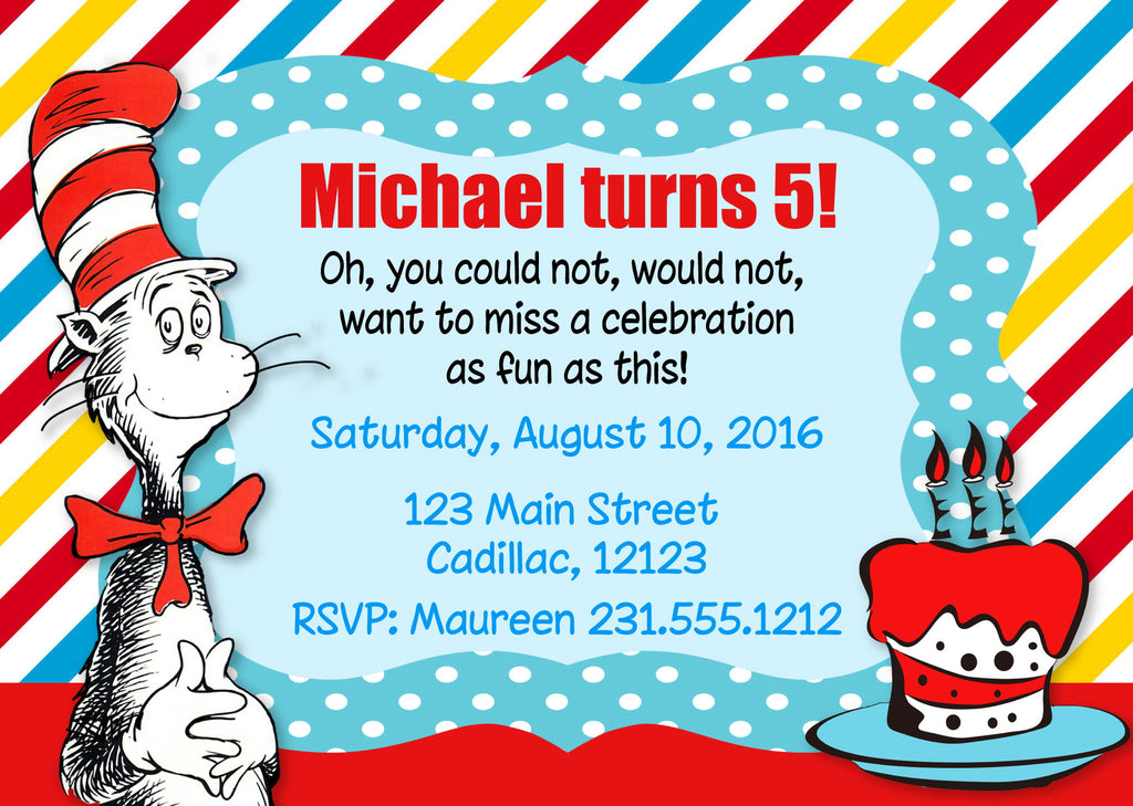 Personalized Kids Birthday Invitations - Custom Kids Party ...